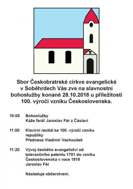 100. výročí republiky v Soběhrdech